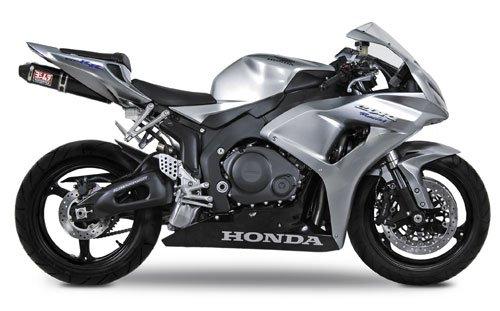 Carbon Yoshimura Race Exhaust - 04-07 HONDA CBR1000RR: Yoshimura RS-5 Slip-On Exhaust (Race/Carbon Fiber)