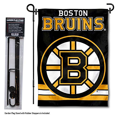 Wincraft Boston Bruins Garden Flag with Pole Stand Holder