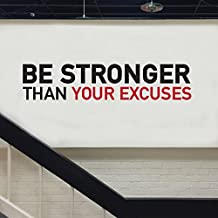 Makes you Stronger Wall decal sitcker home or gym glack-red