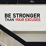 Be stronger A Wall decal sitcker home or gym glack