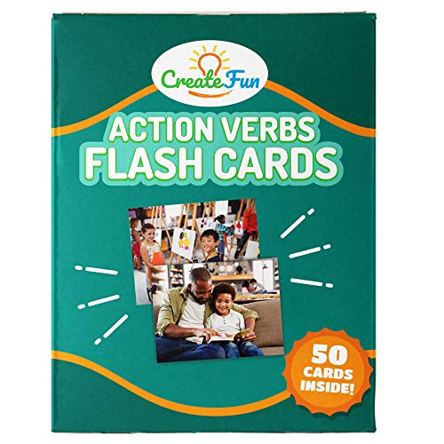 - Action Verbs Flash Cards | 50 Motion Language Development Educational Photo Cards | with 6 Starter Teaching Activities for Parents, Montessori Materials, Gifted Learning, and Speech Therapy Materials