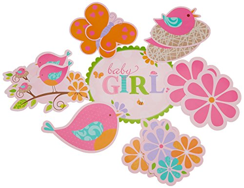[Tweet Baby Girl Cutout Wall Decorations (12ct)] (Witch Cutouts)
