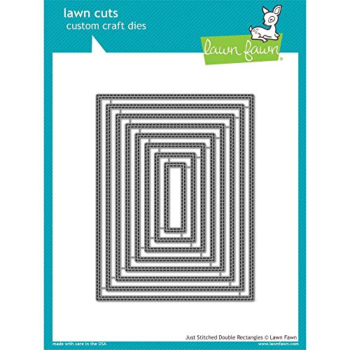 Lawn Fawn Just Stitching Double Rectangles Custom Craft Die (LF1993) (Lawn Fawn Baby Hello)