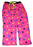 Disney Minnie Mouse Womens Pajama Pants With Silhouette Print - Hot Pink