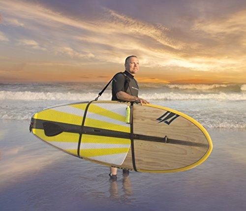 New Improved- Stand Up Paddleboard-SUP/ Surfboard Shoulder Carry Strap FREE Water Bottle Storage Bag