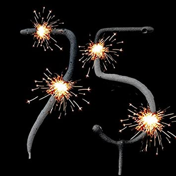 FANCYDRESSCOZ Geburtstagsfee 75th Birthday Sparklers Set For Cake Decoration