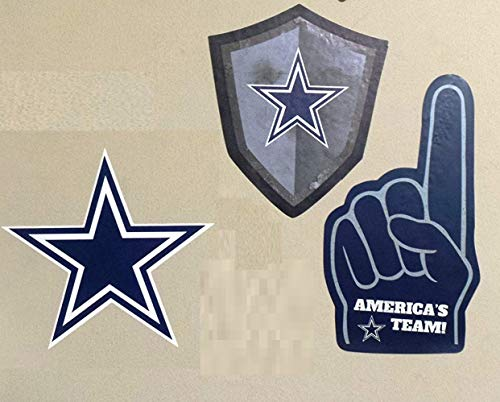 FATHEAD Dallas Cowboys Team Set of 3 Cowboys Logo Signs Foam Finger Official NFL Vinyl Wall Graphic 5