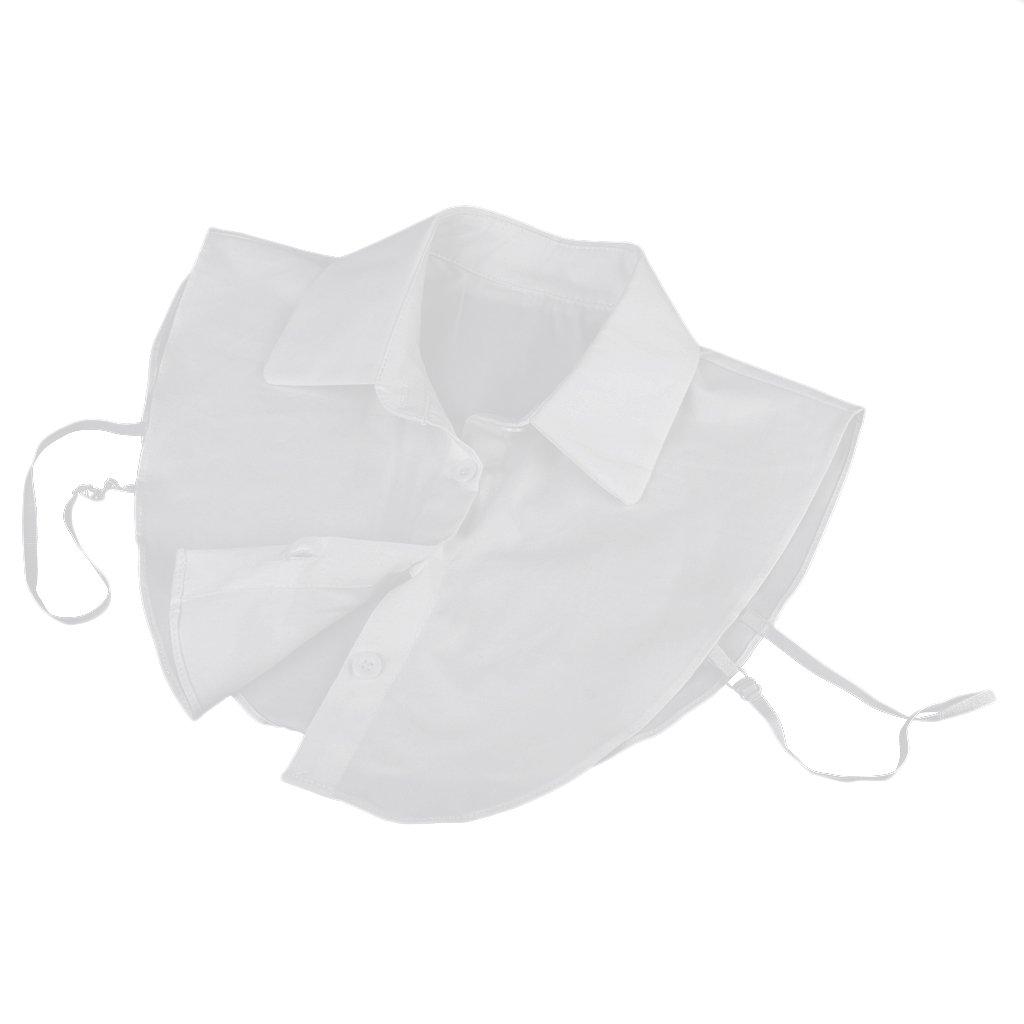 Sharplace Donna Ragazze Camicia Colletto Staccabile per Abiti Vestiti - Bianco, taglia unica