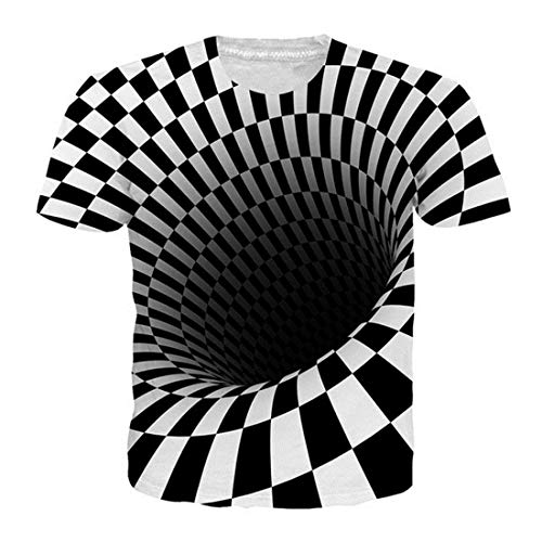 Alistyle Men 3D T-Shirt Eddy Short Sleeve Basic Casual Fashion Tee S