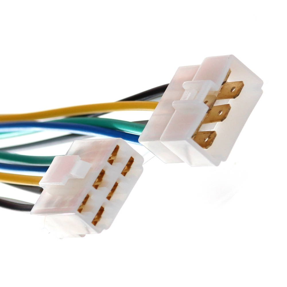 1 Universal 12V 6-pol. Anschluß Set Stecker + Kupplung mit ...