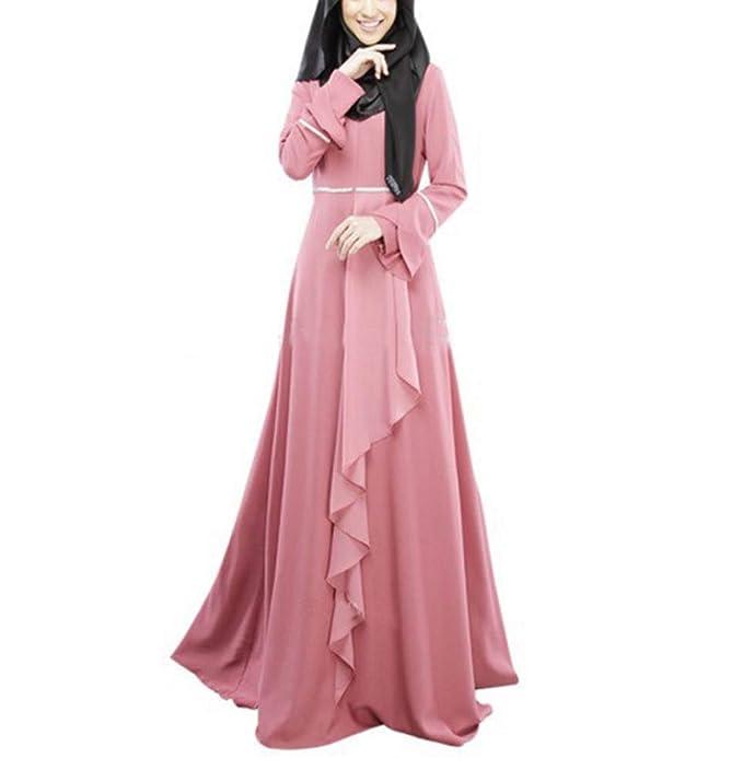 Hellomiko túnicas Musulmanas de Manga Larga Vestido de Hui árabe Malasia Vestido Tradicional de Estilo indonesio