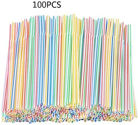 DGdolph 100 Pcs Flexible Plastic Solid White Party Tea /& Coffee Shop Disposable,Random