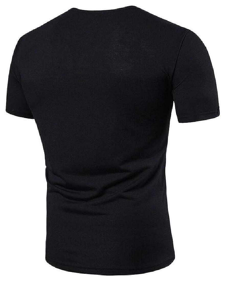 Beloved Mens Casual Premium Slim Fit Henley T-Shirts Short Sleeve Basic Top