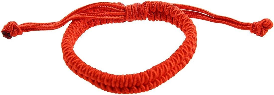Pulsera para la buena fortuna TooGoo. Pulsera para la buena suerte, éxito y protección, color rojo