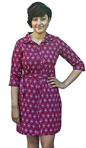 Buy hand block printed dress - 2