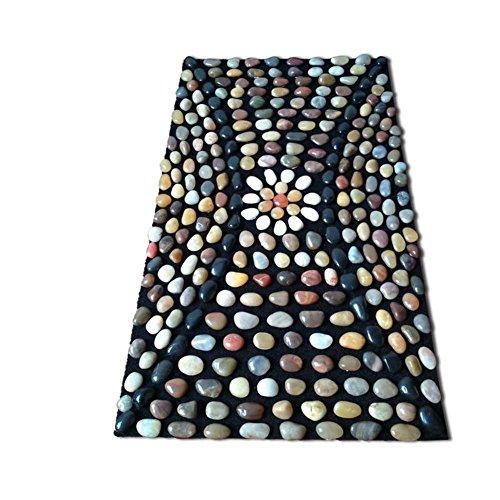 Rart Acupressure mat,Natural Pebbles Massage mat Cobblestone Health Care Reflexology Massage Yoga mat-A 40x70cm(16x28inch)