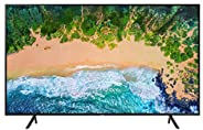 "Samsung UN75NU7100FXZX Smart TV 75"" 4K Ultra HD, 3 HDMI, 2 USB, Charcoal Black ("