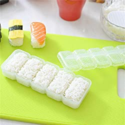 VIPASNAM-Japan Nigiri Sushi Mold Rice Ball 5 Rolls Maker Non Stick Press Bento Tools TT
