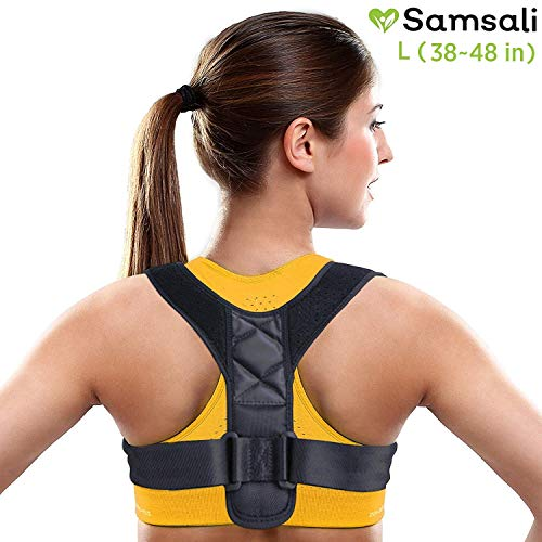 Samsali Posture Corrector, Adjustable Posture Corrector for Men and Women, Back Straightener and Shoulder Support, Best Posture Corrector for 2019