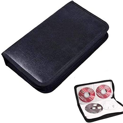 CHRISTY HARRELL Estuche para Discos de Navidad, Soporte para CD, Estuche de Almacenamiento para DVD, Organizador de VCD, Bolsa de Piel sintética Negra (Disco Incluido): Amazon.es: Hogar