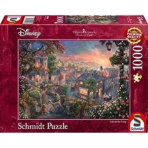 Schmidt Spiele 59490 Puzzle Da 1000 Pezzi Soggetto Thomas Kinkade Disney Susi E Strolch