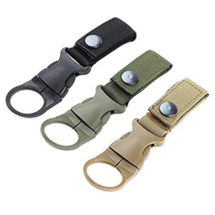 Nylon  Webbing Backpack Hanger Water Bottle Buckle Clip Outdoor Carabiner