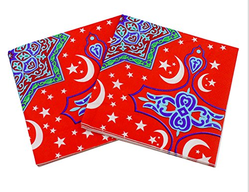 Price comparison product image Arabesque Moon Design Eid or Ramadan Party Decorations (Napkins (20 Pack))