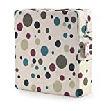 Zicac Dot Printed Dismountable Adjustable Kids Baby Toddler Infant Harness Cushion Dining Chair On the Go Chair Seat Bag Travel Storage Chair (Grey)