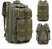 Mochila Tatica Militar Camping Trilhas Acampamento Resistente 30L Assalt (Verde)