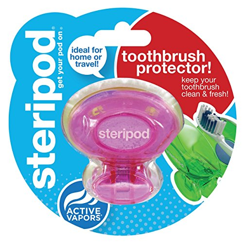 Steripod Clip-On Toothbrush Sanitizer, Pink, 1-pack