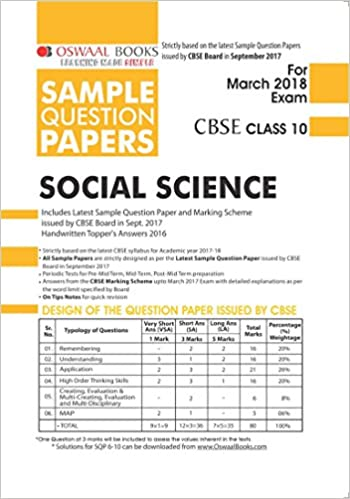 Oswaal cbse sample question papers class 10 social science mar 2018 oswaal cbse sample question papers class 10 social science mar 2018 exam amazon panel of experts books malvernweather Image collections