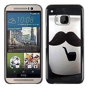 For HTC One M9 - Cute Moustache Cup /Caja protectora de pl???¡¯????stico duro de la cubierta Dise???¡¯???¡Ào Slim Fit/ - Super Marley Shop -