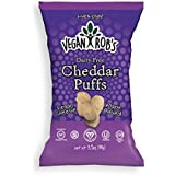 Vegan Rob's Gluten Free and Dairy Free Puffs, Cheddar, 3.5 Ounce, 12 Count