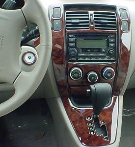 Hyundai Tucson Interior Burl Wood Dash Trim Kit Set 2005 2006 2007 2008 2009 Automotive