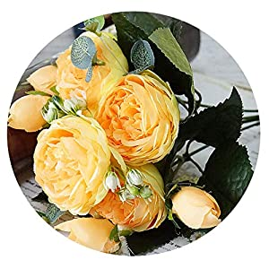 Zalin Artificial Silk 1 Bunch French Rose Floral Bouquet Fake Flower Arrange Table Daisy Wedding Flowers Decor 5
