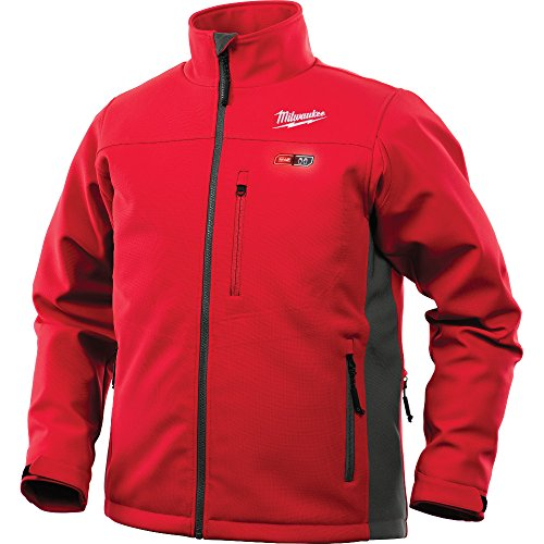 Milwaukee Jacket M12 12V Lithium-Ion Heated Front and Back Heat Zones - Battery Not Included (3X-Large, Red)