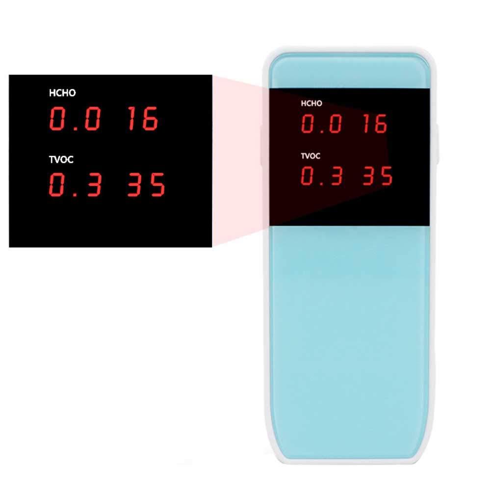 LDRAGON Monitor de Calidad de Aire formaldehído (HCHO) Detector, TVOC de Alta precisión Multifuncional analizador de Gases con Pantalla LCD de Tiempo: ...