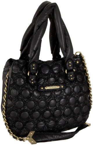 Juicy Couture YHRU2102 Fash:Quiltednylon/Leather Hobo,Black,one size