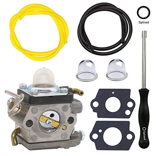 NIMTEK 523012401 Carburetor with Adjustment Tool Fuel Line Primer Bulb for Husqvarna Trimmer 122HD45 122HD60 Jonsered HT2218 HT2223T Redmax CH220 CHT220L by NIMTEK