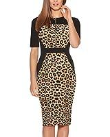 Fantaist Women's Half Sleeve Leopard...