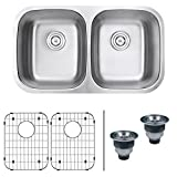 Double Kitchen Sink Ruvati RVM4300 Undermount 16 Gauge 32