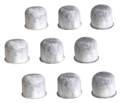 Nine Generic Charcoal Water Filters for use in Capresso(TM) Machines that use 4440.90 Filters (Tap Water Carafe compare prices)
