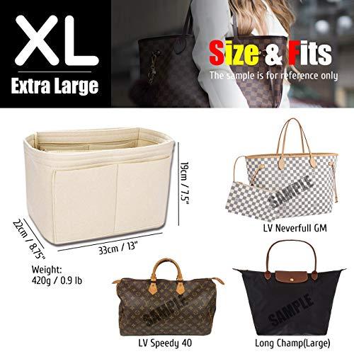 079e3e9b7afc Finders | KINGDOO Felt Purse Organizer Insert Bag Organizer Handbag ...