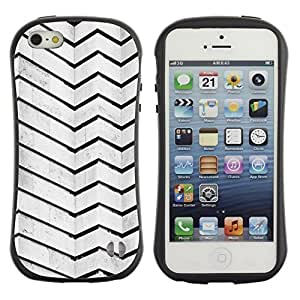 "Hypernova Slim Fit Dual Barniz Protector Caso Case Funda Para Apple iPhone SE / iPhone 5 / iPhone 5S [Arquitectura Líneas Stripes Pared Negro Blanco""]"