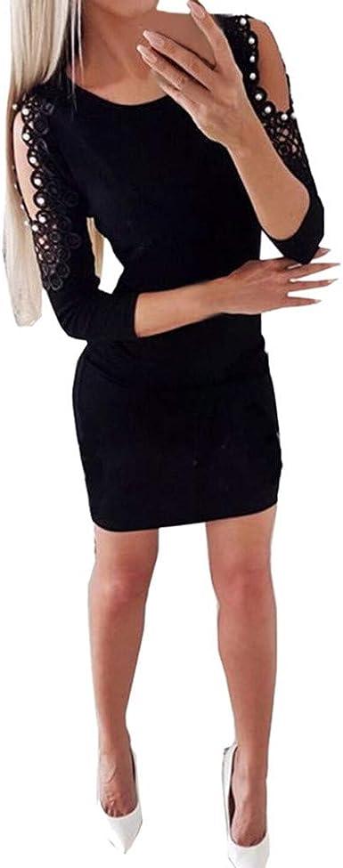 Robe Moulante Femme Pas Cher Electri Femmes Dentelle Sexy Cocktail Robe De Soiree Femme Chic Pour Mariage Slim Split Fourreau Chic Mini Robe Soiree Robe Courte Fete Jupe Longue Amazon Fr Vetements Et