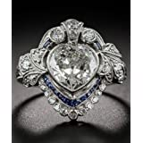 925 Silver Natural 1.1CT Heart Topaz Wedding Bridal Engagement Ring Size 6-10#by pimchanok shop (10)