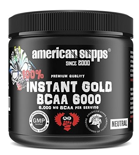 American supps Instant Oro BCAA 6000 Aminos montaje muscular Fitness ...