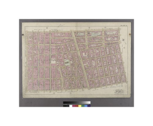 1897 map of Philadelphia Plate 8: Bounded by W. 3rd Street, Great Jones Street, E. 3rd Street, Avenue A, Essex Street, Broome Street and West Broadway. Bromley, George Washington - West Broome And Broadway