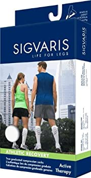 Sigvaris 144C Athletic Recovery Sock 15-20mmHg Womens Size C White