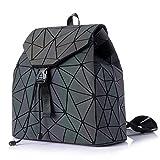 HotOne Geometric Backpack Holographic Reflective Backpacks Fashion Backpack (NO.2Backpack)